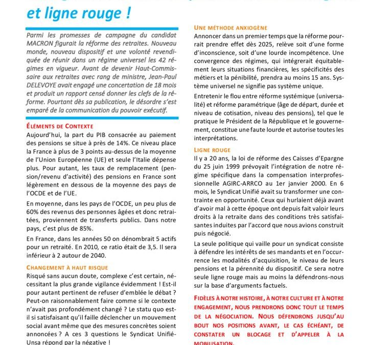 Réforme des retraites : changement à haut risque, méthode anxiogène et ligne rouge !