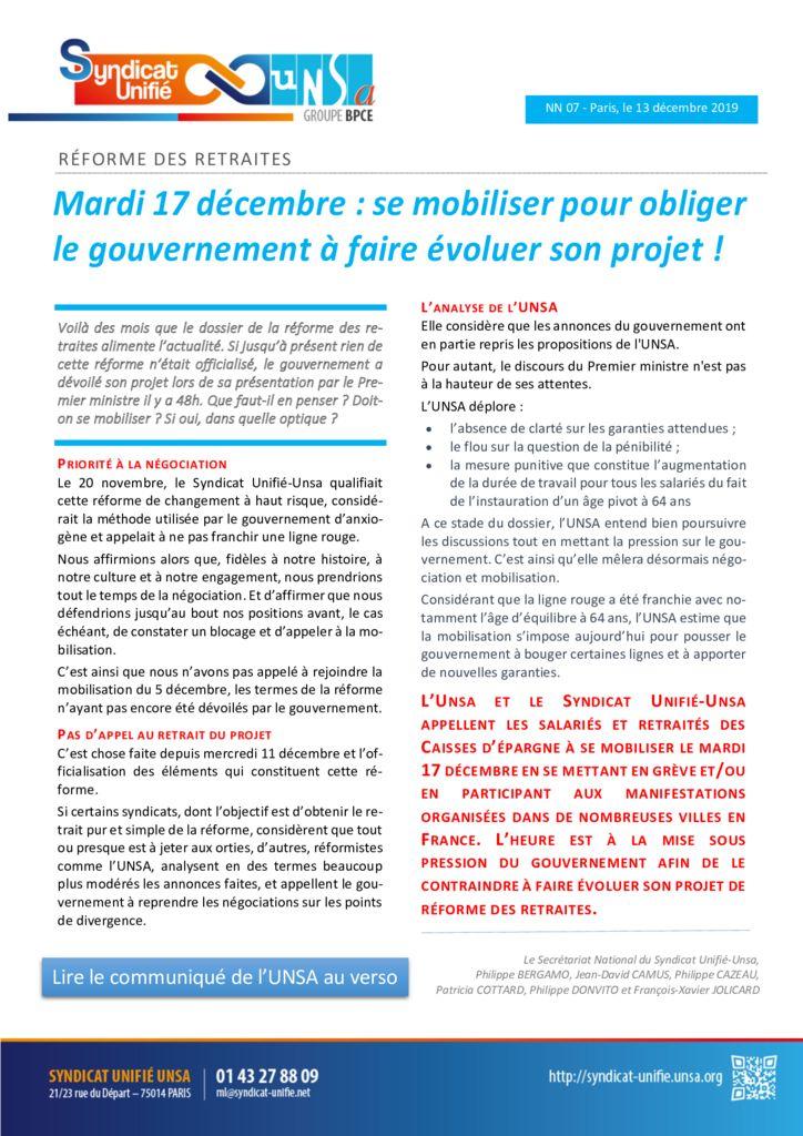 thumbnail of NN 2019-07 Appel à la grève du 17 12 2019