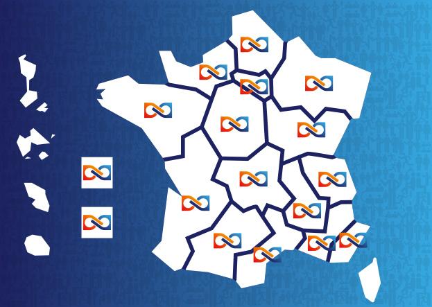 Carte Caisse par région